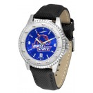 Boise State Broncos Competitor AnoChrome Men's Watch with Nylon/Leather Band