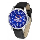 Boise State Broncos Competitor AnoChrome Men's Watch with Nylon/Leather Band and Colored Bezel