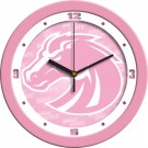 """Boise State Broncos 12"""" Pink Wall Clock"""