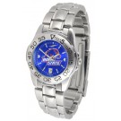 Boise State Broncos Sport AnoChrome Ladies Watch with Steel Band
