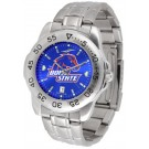 Boise State Broncos Sport Steel Band Ano-Chrome Men's Watch