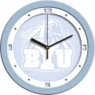 "Brigham Young (BYU) Cougars 12"" Blue Wall Clock"