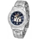 Brigham Young (BYU) Cougars Competitor AnoChrome Men's Watch with Steel Band