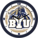 "Brigham Young (BYU) Cougars 12"" Dimension Wall Clock"