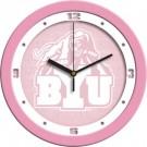 "Brigham Young (BYU) Cougars 12"" Pink Wall Clock"