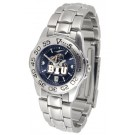 Brigham Young (BYU) Cougars Sport AnoChrome Ladies Watch with Steel Band