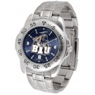 Brigham Young (BYU) Cougars Sport Steel Band Ano-Chrome Men's Watch