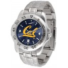 California (UC Berkeley) Golden Bears Sport Steel Band Ano-Chrome Men's Watch