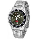 Cincinnati Bearcats Competitor AnoChrome Men's Watch with Steel Band and Colored Bezel