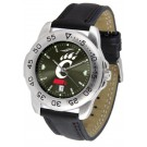 Cincinnati Bearcats Sport AnoChrome Men's Watch with Leather Band