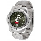 Cincinnati Bearcats Sport Steel Band Ano-Chrome Men's Watch