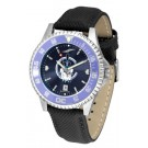 Citadel Bulldogs Competitor AnoChrome Men's Watch with Nylon/Leather Band and Colored Bezel