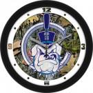 """Citadel Bulldogs 12"""" Camo Wall Clock"""