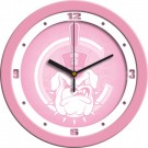 "Citadel Bulldogs 12"" Pink Wall Clock"
