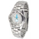 Citadel Bulldogs Gameday Sport Ladies' Watch with a Metal Band