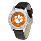 Clemson Tigers Competitor AnoChrome Men's Watch with Nylon/Leather Band