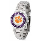 Clemson Tigers Competitor Ladies Watch with Steel Band