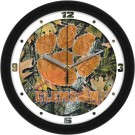 "Clemson Tigers 12"" Camo Wall Clock"