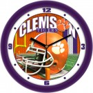 "Clemson Tigers 12"" Helmet Wall Clock"