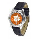 Clemson Tigers Sport AnoChrome Ladies Watch with Leather Band