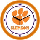 "Clemson Tigers Traditional 12"" Wall Clock"