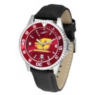 Central Michigan Chippewas Competitor AnoChrome Men's Watch with Nylon/Leather Band and Colored Bezel
