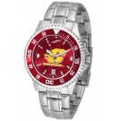 Central Michigan Chippewas Competitor AnoChrome Men's Watch with Steel Band and Colored Bezel