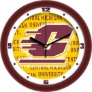 "Central Michigan Chippewas 12"" Dimension Wall Clock"