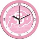 """Colorado Buffaloes 12"""" Pink Wall Clock"""