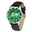Colorado State Rams Competitor AnoChrome Men's Watch with Nylon/Leather Band and Colored Bezel