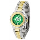 Colorado State Rams Competitor AnoChrome Ladies Watch with Two-Tone Band