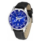Creighton Blue Jays Competitor AnoChrome Men's Watch with Nylon/Leather Band and Colored Bezel