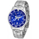 Creighton Blue Jays Competitor AnoChrome Men's Watch with Steel Band and Colored Bezel