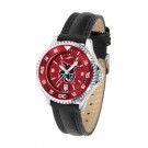 Central Washington Wildcats Competitor Ladies AnoChrome Watch with Leather Band and Colored Bezel