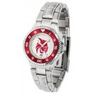 Central Washington Wildcats Competitor Ladies Watch with Steel Band