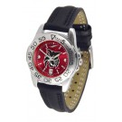 Central Washington Wildcats Sport AnoChrome Ladies Watch with Leather Band