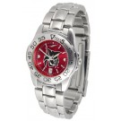 Central Washington Wildcats Sport AnoChrome Ladies Watch with Steel Band