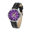 East Carolina Pirates Competitor Ladies AnoChrome Watch with Leather Band and Colored Bezel