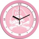 "East Carolina Pirates 12"" Pink Wall Clock"