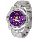 East Carolina Pirates Sport Steel Band Ano-Chrome Men's Watch