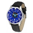 East Tennessee State Buccaneers Competitor AnoChrome Men's Watch with Nylon/Leather Band and Colored Bezel