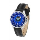 East Tennessee State Buccaneers Competitor Ladies AnoChrome Watch with Leather Band and Colored Bezel