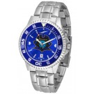 East Tennessee State Buccaneers Competitor AnoChrome Men's Watch with Steel Band and Colored Bezel