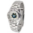 East Tennessee State Buccaneers Gameday Sport Ladies' Watch with a Metal Band