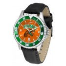 Florida A & M Rattlers Competitor AnoChrome Men's Watch with Nylon/Leather Band and Colored Bezel