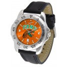 Florida A & M Rattlers Sport AnoChrome Men's Watch with Leather Band