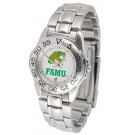 Florida A & M Rattlers Gameday Sport Ladies' Watch with a Metal Band