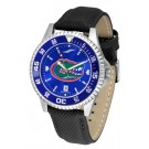 Florida Gators Competitor AnoChrome Men's Watch with Nylon/Leather Band and Colored Bezel