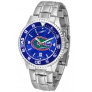 Florida Gators Competitor AnoChrome Men's Watch with Steel Band and Colored Bezel