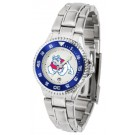 Fresno State Bulldogs Competitor Ladies Watch with Steel Band